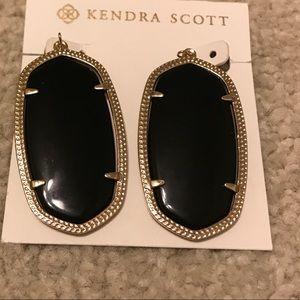 Kendra Scott Black Danielle Earring NWOT